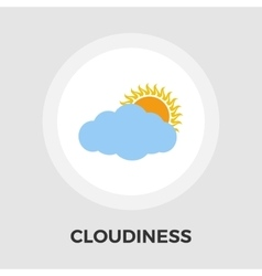 Cloudiness single flat icon vector image