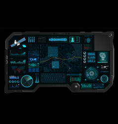 command center screen in hud style vector image