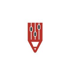 creative pen controller logo vector image