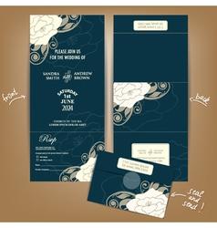 Dark seal and send wedding invitation vector