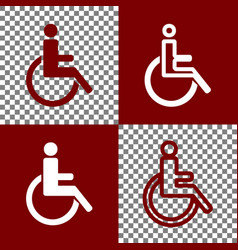 Disabled sign bordo and vector
