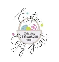 Easter egg hunt vector image