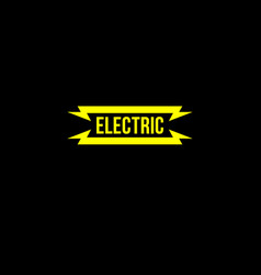 electric yellow flat logo vector image