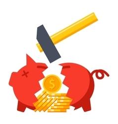 Financial crisis concept vector