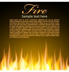 Fire background for your Design vector image