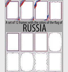 Flag v12 russia vector