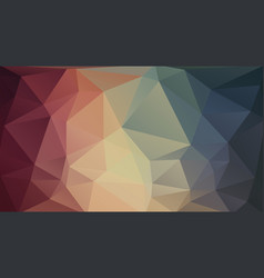 flat 2d triangle background vector image