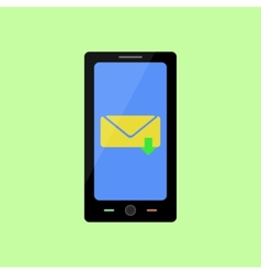 Flat style smart phone with inbox message vector