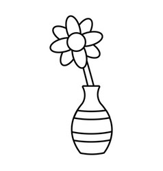 flower in vase vector image