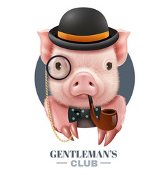 gentlemans club realistic poster vector image