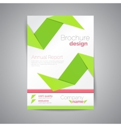 Geometric brochure A4 Origami style Material vector image