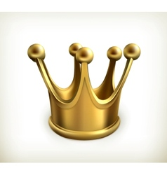 Gold crown icon vector image vector image