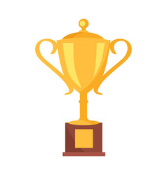 golden cup prize icon vector image