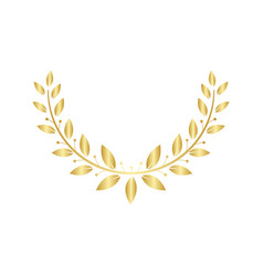golden laurel or olive greek wreath for awards and vector image