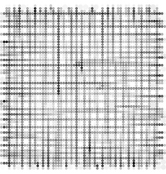 grid made with grayscale bubble pattern over white vector image