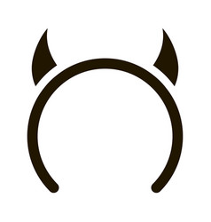 Halloween horns icon glyph vector
