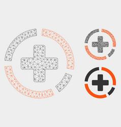 health care diagram mesh network model vector image