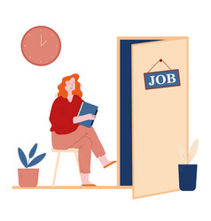 Human resources hr recruitment concept candidate vector
