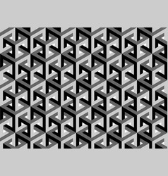 impossible cubes pattern isometric background 3d vector image