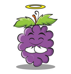 innocent grape character cartoon collection vector image