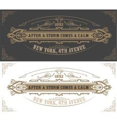 Invitation card template vintage vector image