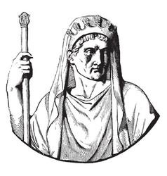 Julius caesar vintage vector