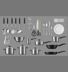 kitchenware and tableware crockery vector image