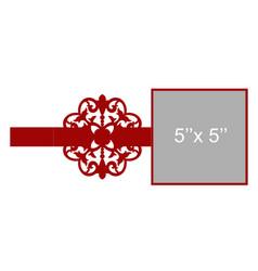 laser cut template vector image