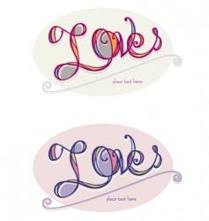 love word art vector image