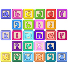 Lower case alphabet blocks vector