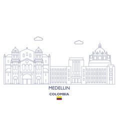 medellin city skyline vector image