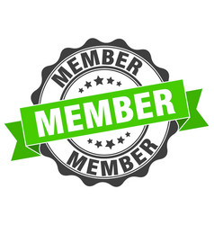 Member stamp sign seal vector