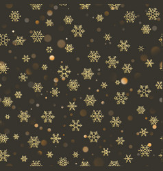 merry christmas holiday decoration effect golden vector image