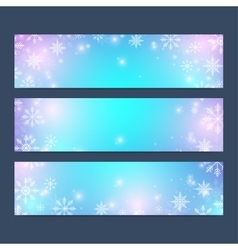 Modern Happy New Year set of banners vector image