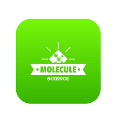 molecule science icon green vector image