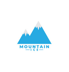 mountain ice logo design template isolated vector image