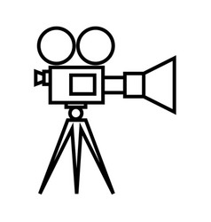movie camera on tripod icon vector image