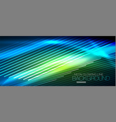 Neon smooth wave digital abstract background vector