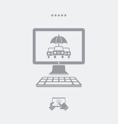 online automotive insurance - web icon vector image