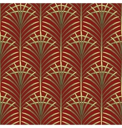 Palm leaves seamless pattern vector image