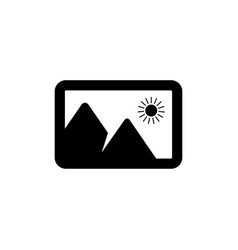 photo icon in flat style for apps ui websites vector image