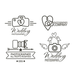 Photography Badges and Labels in Vintage Style vector image