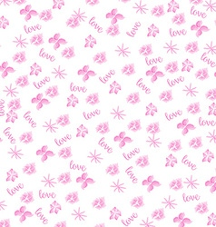Pink watercolor floral background vector image