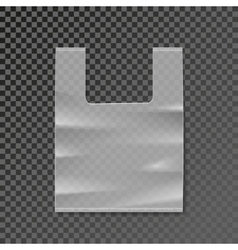 Plastic bag blank template on transparent vector
