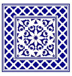 Porcelain frame design vector