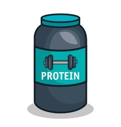 Protein bottle sport trainer vector