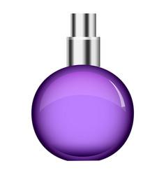 Purple perfume bottle mockup realistic style vector