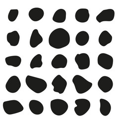 Random organic shapes vector
