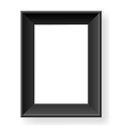 Realistic black frame vector image vector image