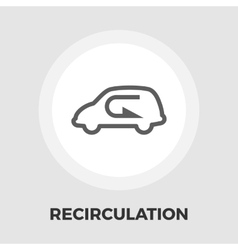 Recirculation air icon flat vector